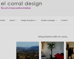 clickable image linking to website design for el corral design