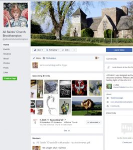 clickable image linking to website design for all saints brockhampton facebook page